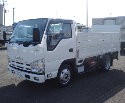 2t・3tガスボンベ運搬仕様 平トラックショートパワーゲート(リフト)